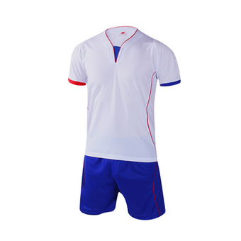 JustCreat Men And Women Football Shirts Clothes Sports Training Uniform (White)