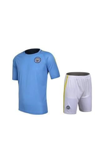 High quality 2016--2017 Manchester City soccer jersey suits include tops+ shorts (blue)