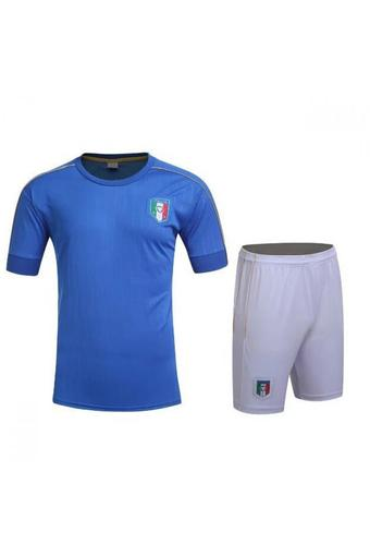 High quality 2016 European Cup Italy national Soccer Jersey Suit includes tops + Shorts (blue).