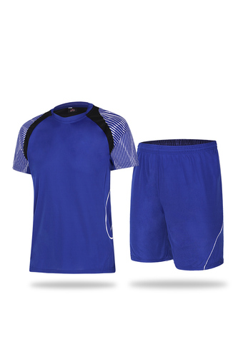 New Casual Men and Boy's Football Jersey Shirts and Shorts Set-Blue(2951) - Intl
