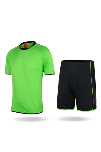 Training Jersey Men Football/Soccer Uniform Suit Short Sleeve Plain For Sports (Green) - Intl