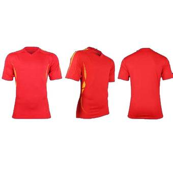 Men's Soccer Football Sport Jersey Short Pants & T-shirt Uniform Red