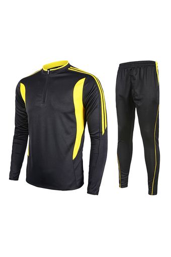 Fashion 2016 Men's Outdoor Football Sport Sportwear Pants With Long Sleeve T Shirts Jersey Suit Set-Yellow(230) - Intl