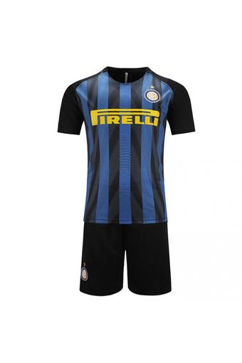 High quality 2016--2017 Inter Milan soccer jersey suits include tops+ shorts (blue).