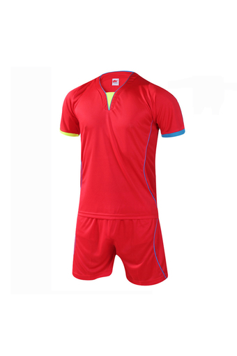 Fashion Men and Boy's Good Quality Team Football Training Sport Jersey Shirts and Shorts Set-Red(902-2) - Intl