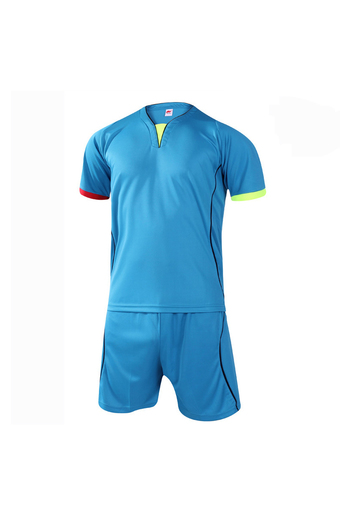 Fashion Men and Boy's Good Quality Team Football Training Sport Jersey Shirts and Shorts Set-Light Blue(902-2) - Intl