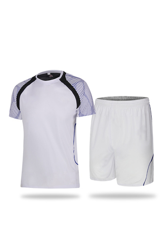 New Casual Men and Boy's Football Jersey Shirts and Shorts Set-White(2951) - Intl