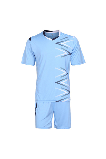 Soccer jerseys jogging football training suit soccer uniform training football shirt sport maillot foot men futbol(Light blue)