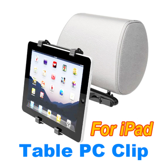 Adjustable Universal Holder For Apple iPad Tablet PC GPS Car Headrest Mount (Black)