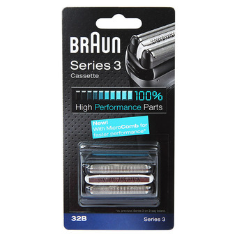 BRAUN 32B Series 3 Shaver Cassette Foil & Cutter with MicroComb Replacement Head