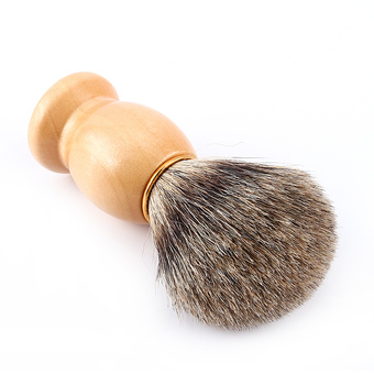 Men Wood Handle Shaving Brush Badger Hair For Men Father Gift Barber Tool