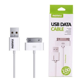 Remax สายชาร์จ Data Cable for iPhone 4/4S (White)