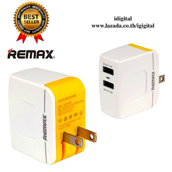 Remax ที่ชาร์จโทรศัพท์มือถือ USB 2ช่องAdapter USB Charger (3.4A Output) (White)