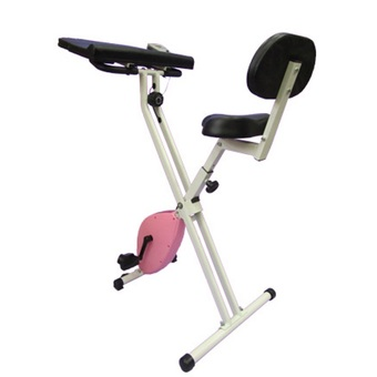 THAI-PRO Folding Magnetic Exercise Bike with table 19808 (Pink)