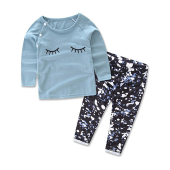 Retail ins kids clothes,girls clothing suit,Letter T-shirt+ pants two piece,for 1-3Y girls newborn baby girl clothing set