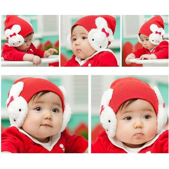 Baby Toddler Kids Girls Photography Props Outfit Cap Hat (Red)