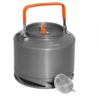 Portable Anodized Aluminum 1.5L Fire Maple FMC-XT2 Heat Collecting Exchanger Kettle Tea Coffee Pot Outdoor Camping Picnic Cookware Drawstring Mesh Bag