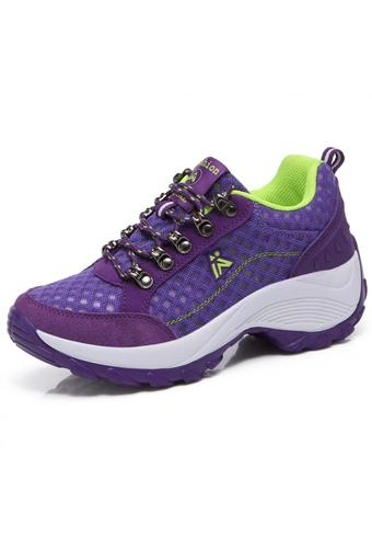 KAILIJIE Women's Sports Mesh Trail Walking Shoes (Purple)
