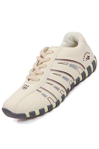 PINSV Women's Sport&Outdoor Shoes Badminton Shoes (Beige)