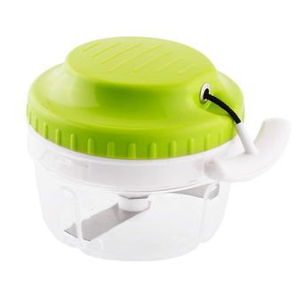 Manual Food Chops Grinder Mixer New (Green/White)