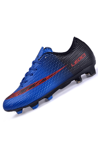 PINSV Men's Outdoor Football Shoes Boots Spike Soccer Shoes (Navy) - Intl
