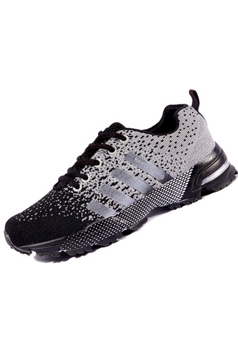 PINSV Unisex Lovers Breathable Running Shoes (White/Black) (Intl)