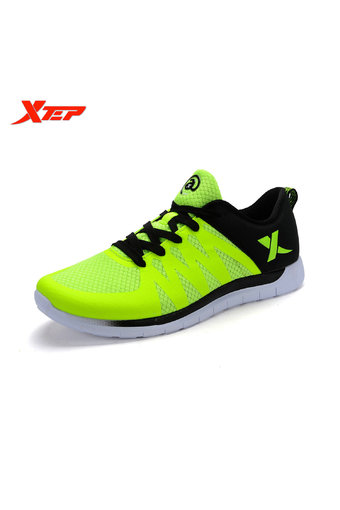 XTEP Brand Running Shoes for Men Athletic Trainers Shoes (Green)
