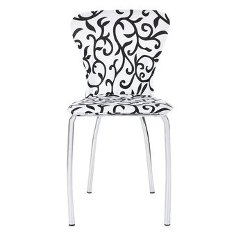 Dining Chair Cover Spandex Stretch Washable for Hotel Restaurant Banquet Folding Decoration (White And Black)