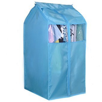 Oxford Hanging Cloth Storage Bag Garment Suit Coat Wardrobe Dust Protector Cover Blue