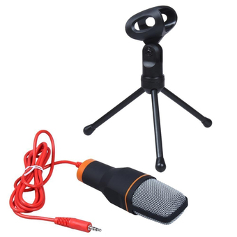niceEshop Professional Condenser Podcast Studio Sound Recording Microphone for PC Laptop (Black)