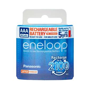 Eneloop Rechargeable Battery AAA รุ่น BK-4MCCE/4NT 4 ก้อน/แพ็ค (White)