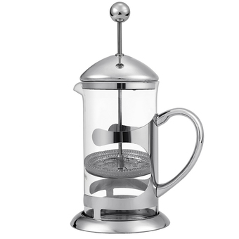 Cyber HOMDOX French Press Coffee Espresso Maker 1000ML Stainless Steel Heat Resistant Glass Carafe Kettle with Plunger Lid 2pcs Extra Filter (Silver)