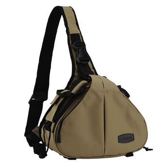 niceEshop Khaki Waterproof Crossbody Single Shoulder Nylon Bag for Camera Canon 600D D600 7D 5D2 60D and Nikon D90 D60 D700 D7000