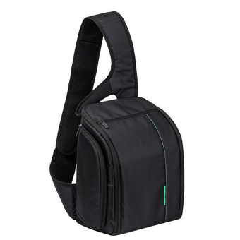 DSLR Digital Sling Camera Case Shoulder Bag Backpack for Canon Nikon (Green)