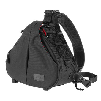 Caden K1 Waterproof Fashion Casual Triangle Camera Shoulder Bag for Canon Nikon Pentax DSLR (Black)