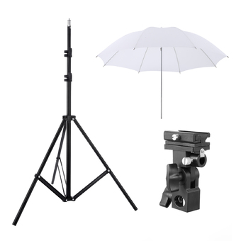 Meking W803 Light Stand+Flash Bracket Mount+Umbrella/Flash Speedlite Accessories Kit