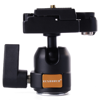 XCSource อุปกรณ์กล้อง Mini Ballhead + Quick Release Plate Camera Tripod Ball Head Black Monopod