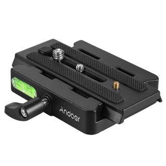 Andoer Video Camera Tripod Monopod Quick Release Adapter Clamp with Quick Release Plate for Manfrotto 501/500AH/701HDV/503HDV/Q5 Head Outdoorfree - INTL