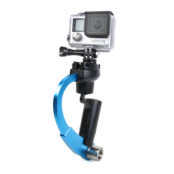 Handheld Video Stabilizer Curve Steadycam Blue for Gopro Hero 4 3 Sjcam SJ4000 Xiaomi Yi Action Camera