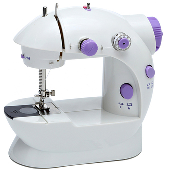 Handheld Dual Speed Double Thread Multifunction Electric Mini Automatic Tread Rewind Sewing Machine(purple)