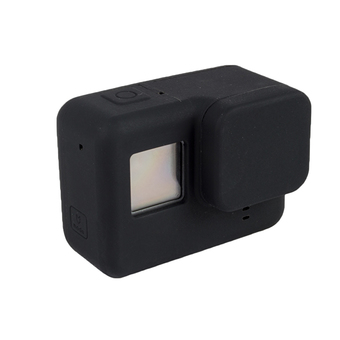 Scratch Resistant Protective Lens Cap+Silicone Case Cover For GoPro Hero5 Camera Black - intl