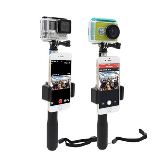 ตัวยึดมือถือ Monopod Phone Lock Clip Mount Gopro Hero 4 3 3+ GoPro Sjcam Sj4000 sj5000 Xiao Yi Action Camera