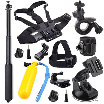 13-in-1 accessories for GoPro HERO4 Session All Gopro Hero4 Silver Black Hero 4 3+ 3 2 SJ4000 SJ5000 SJ6000 Sports Camera Accessories Kit (Intl)