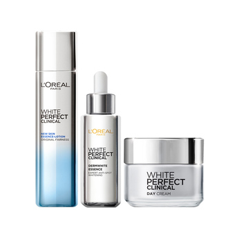 L'Oreal Paris White Perfect Clinical Day Cream + Derm White Essence+ New Skin Essence Lotion