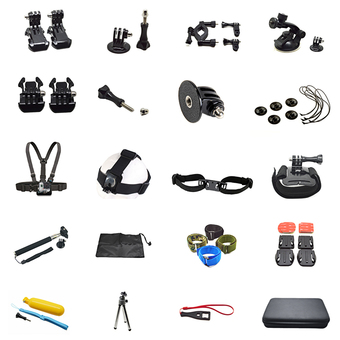 Gopro Hero 5 Accessories Set Kit Helmet mount tripod strap for Go pro 5 4 3 2 1 SJ4000 sjcam Xiaomi Yi h9 Sony Action Camera
