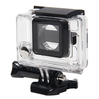 Leegoal Clear View Skeleton Protective Housing Case with Lens for Gopro 3+/ 4 with Open Side (Transparent) - Intl (Intl)