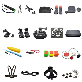 Gopro hero 5 Accessories Set Kit tripod Strap Mount Surfing suit for Go pro 5 4 3 2 1 SJ4000 Xiaomi Yi h9 Sony Action camera