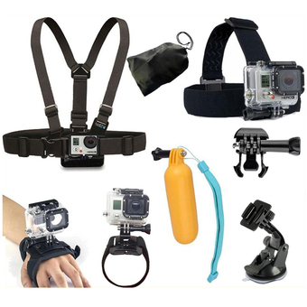 GoPro Accessories Kit Chest strap Head Strap Wrist band Car SuctionCup Floating Mount for Go Pro Hero 4/3+/3/2 SJ4000 sj5000