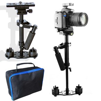 FOSOTO S40 40cm 0.4M Handheld Stabilizer, Camera Stabilizer Steadicam for Camcorder Video DV DSLR Camera (Black)