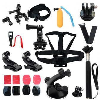 Head Strap Mount Floating with Monopod Accessories Combo for gopro 2 3+ 4 Sj4000